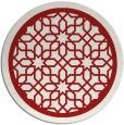 rug #855155   round red borders rug