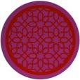 rug #855159 | round red borders rug