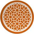 rug #855175 | round red-orange popular rug