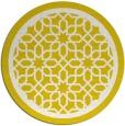 rug #855183 | round white borders rug