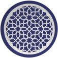 rug #855187 | round blue borders rug