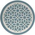 rug #855195   round blue-green borders rug