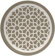 rug #855199 | round beige borders rug