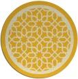 rug #855203 | round yellow borders rug