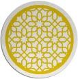 rug #855215 | round yellow borders rug