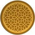 rug #855219 | round light-orange borders rug