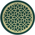 rug #855223 | round yellow borders rug