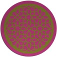 rug #855235 | round light-green borders rug