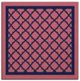 rug #857355 | square blue-violet borders rug