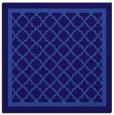 rug #857363 | square blue-violet borders rug