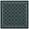 rug #857383 | square green borders rug