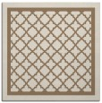 rug #857403 | square mid-brown borders rug