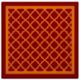 rug #857451 | square red-orange traditional rug