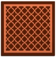 rug #857463 | square red-orange traditional rug