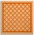 rug #857519 | square red-orange traditional rug