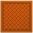 rug #857523 | square red-orange traditional rug