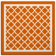 rug #857527 | square red-orange traditional rug