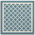 rug #857547 | square white geometry rug