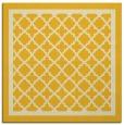 rug #857555 | square yellow borders rug