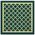 rug #857575 | square blue-green borders rug