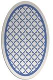rug #857643   oval blue popular rug