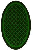 rug #857655 | oval green borders rug