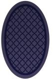 rug #857683 | oval blue-violet borders rug
