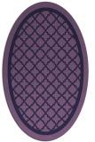 rug #857695 | oval blue-violet borders rug