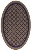 rug #857703   oval beige borders rug