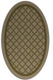 rug #857711   oval mid-brown borders rug