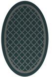 rug #857719 | oval green geometry rug