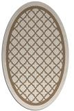 rug #857739   oval mid-brown borders rug