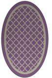 rug #857771 | oval beige geometry rug