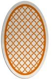 rug #857791 | oval orange borders rug