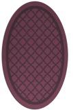 rug #857819 | oval purple borders rug