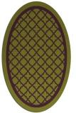 rug #857823 | oval green borders rug