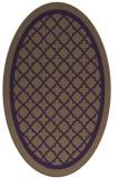 rug #857827 | oval purple borders rug