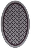 rug #857831 | oval purple geometry rug