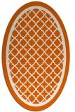 rug #857863   oval red-orange borders rug