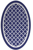 rug #857875 | oval white traditional rug