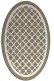 rug #857887   oval beige borders rug