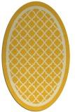 rug #857891 | oval yellow borders rug