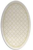rug #857895 | oval yellow traditional rug