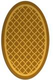 rug #857907 | oval light-orange borders rug