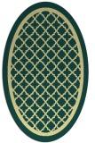 rug #857911 | oval yellow borders rug