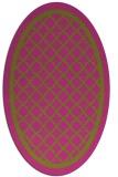 rug #857923   oval pink borders rug