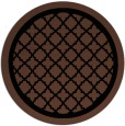 rug #858283 | round brown borders rug