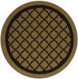 rug #858287 | round black borders rug