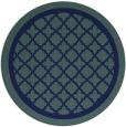 rug #858307   round blue-green borders rug