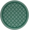 rug #858323 | round blue-green traditional rug